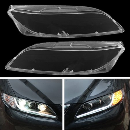 1 Pair Left & Right Headlight Headlamp Clear Lenses Lens Clear Cover Transparent For Car Mazda 6 2003- 2008 NEW MZ