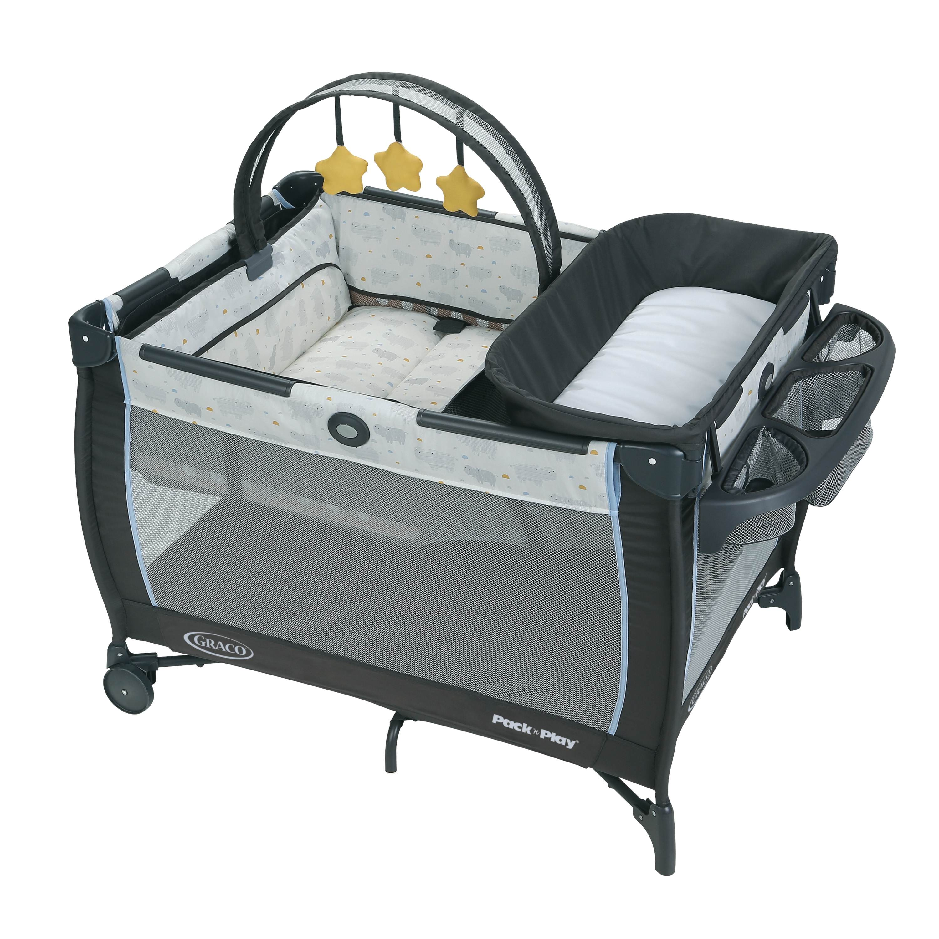 Graco Pack 'n Play Anywhere Dreamer Playard with Bassinet, Hattie