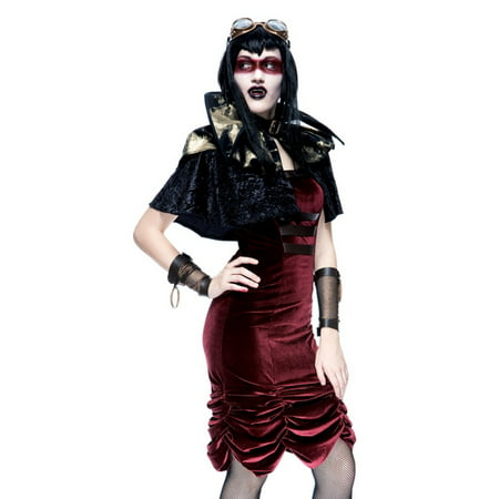 Paper Magic Steampunk Vampire Sexy Goth Cyber Punk Cosplay Costume