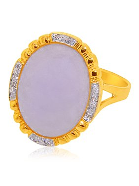 8e683a82c64ed2 Product Image 14K Yellow Gold Diamond Dyed Purple Jade Ring