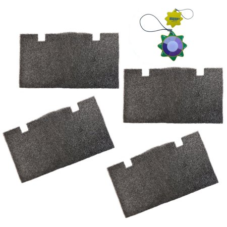 HQRP 4 pcs Foam Air Filter for Dometic Duo Therm Penguin 600312, 600315, 630025, 630035 Series Roof Top Air Conditioners & Heat Pumps + HQRP UV Meter