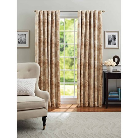 Better homes and gardens leaf scroll thermal light Better homes and gardens valances for small windows