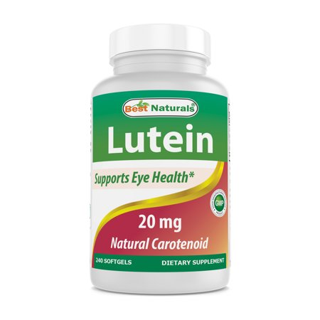 Best Naturals Lutein with Zeaxanthin Softgels, 20mg, 240