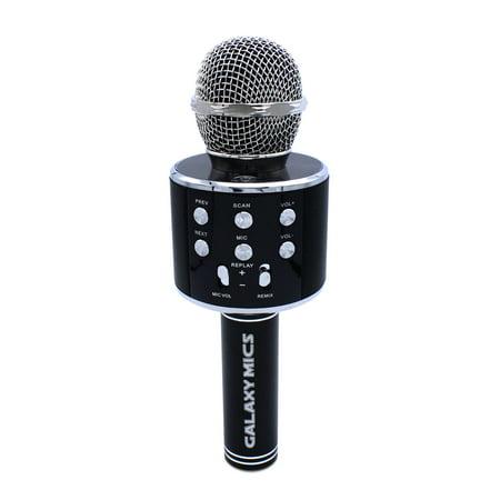 Kids Galaxy Mic Q9 Microphone Wireless Karaoke Machine 2 in 1 built in Bluetooth Speaker Handheld Mic,Black - Walmart.com