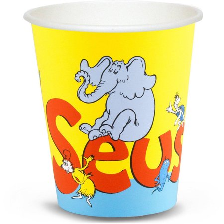 Dr. Seuss 9-Ounce Paper Cups, 8-Pack