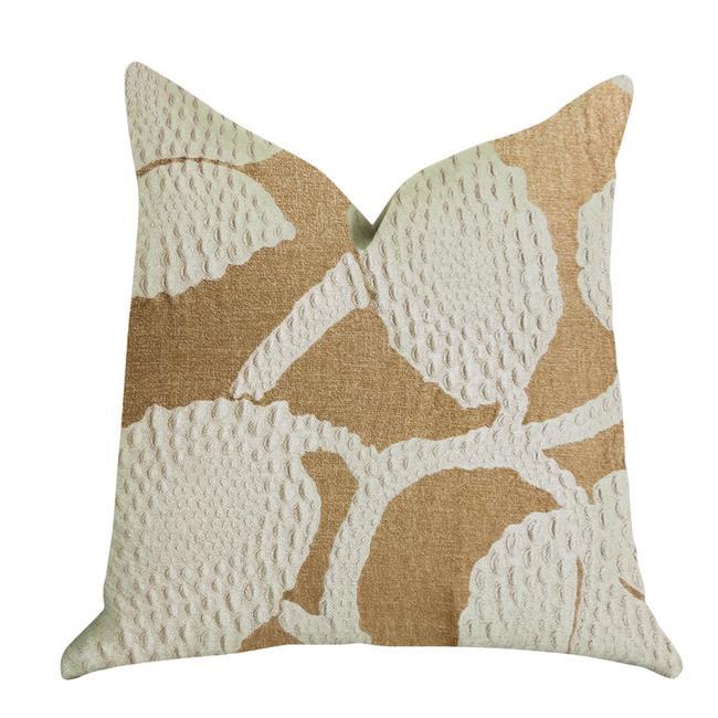 Plutus PBRA1364-2030-DP Golden Arabella Vine Luxury Double Sided Throw Pillow, Green & Bronze - Queen - image 1 de 1