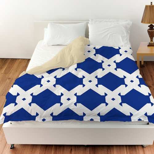 Manual Woodworkers & Weavers Modern Geometric Sapphire Duvet Cover