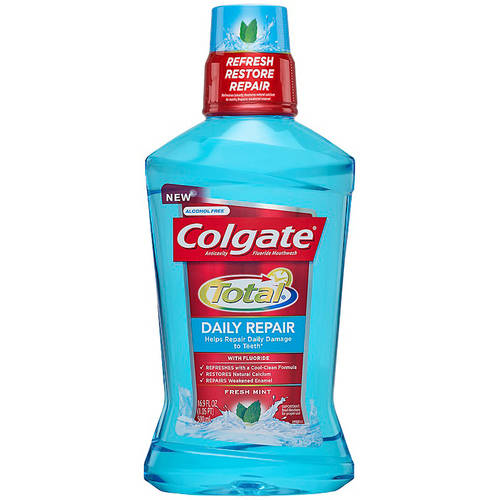 Colgate Total Daily Repair Mouthwash, Fresh Mint - 500mL, 16.9 fl oz
