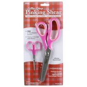 2294 Ultra Sharp Titanium Bonded Pinking Shears with Bonus Needlepoint Scissors - Pink (Single Titanium Bonded Pinking Shears), Ultra Sharp By Allary,USA
