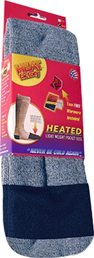 Heat Factory 1502ML Men's Heavyweight Merino Wool Socks Med Large 9-11 by Heat Factory