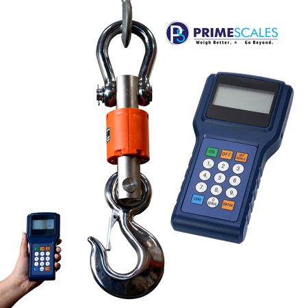 Primescales Zenith Z-CR-WL Series Portable 20000x5lb Completely Wireless with Operator & Display Remotely | Digital Crane Scale | Heavy Duty Hanging Scale | Commercial Hanging Scale ()