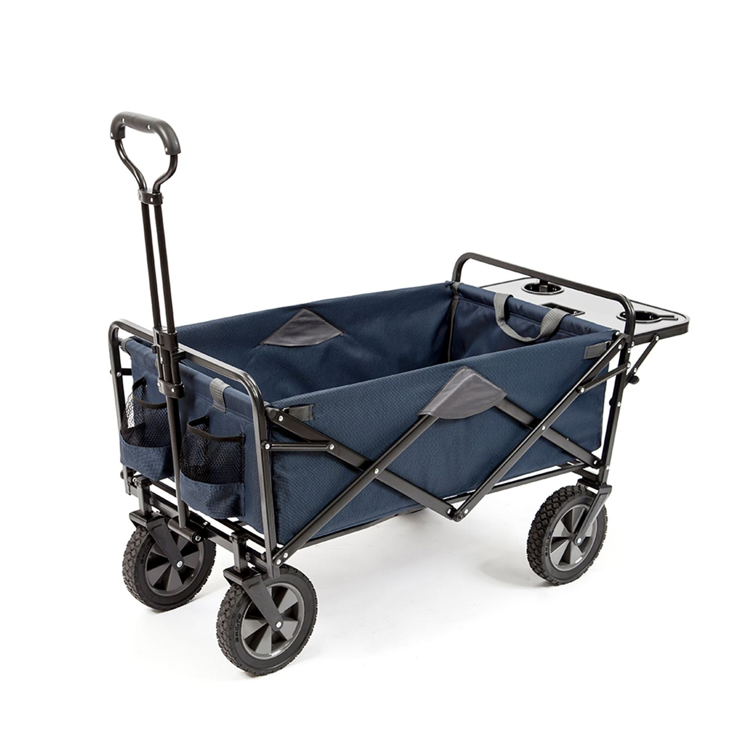 MAC Sports Folding Wagon with Folding Table, Blue