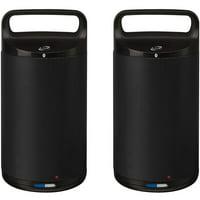 iLive Indoor/Outdoor Dual Bluetooth Speakers, Black