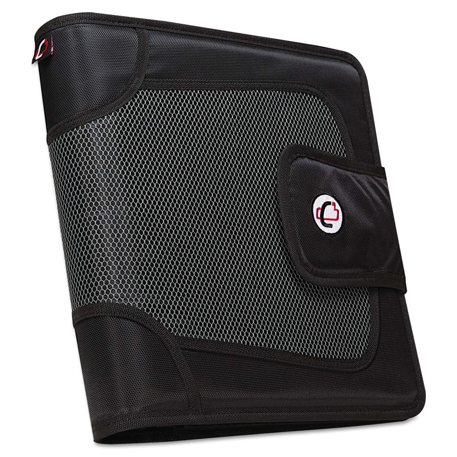 "Caseit 2"" 3 Ring Binder with Zippered Pencil Pocket and File Folder"