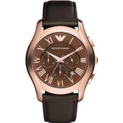 Rose Gold-Tone Leather Chronograph Mens Watch AR1701
