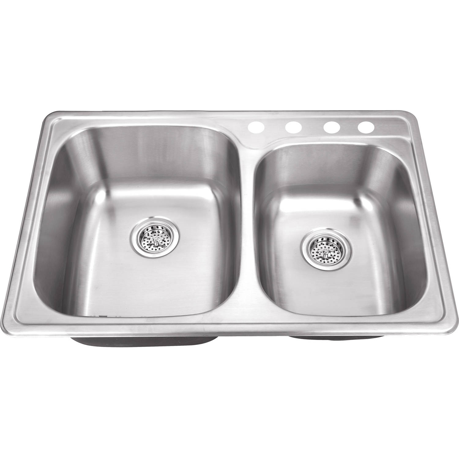 Magnus Sinks 33-1/8-in x 22-in 20 Gauge Stainless Steel Double Bowl Kitchen Sink