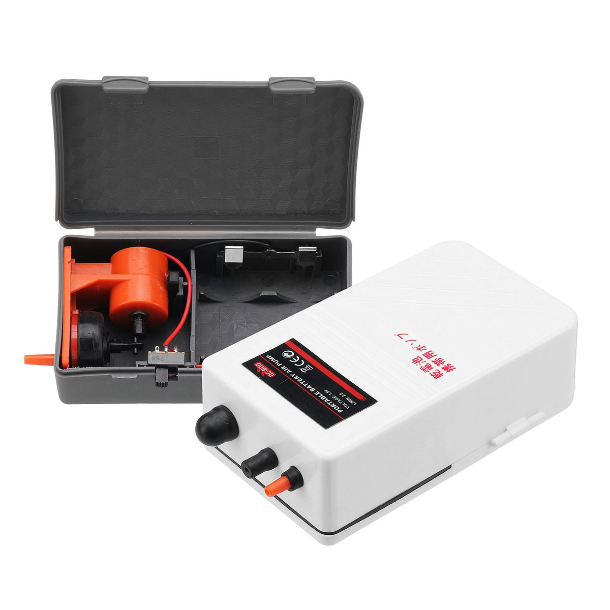 2-5W Aquarium Outage Emergency Battery Operated Air Pump Fishing Aerator Oxygen