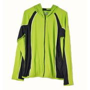 Under Armour Womens XLarge Green with Grey Yoga Heatgear Zip Up Jacket NWOT