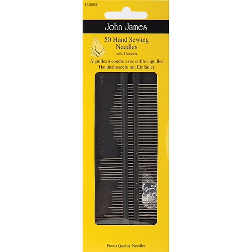Hand Needles With Threader, 50pk