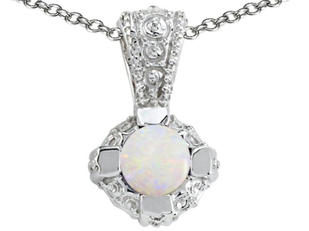 Tommaso Design Genuine Opal Pendant Necklace by