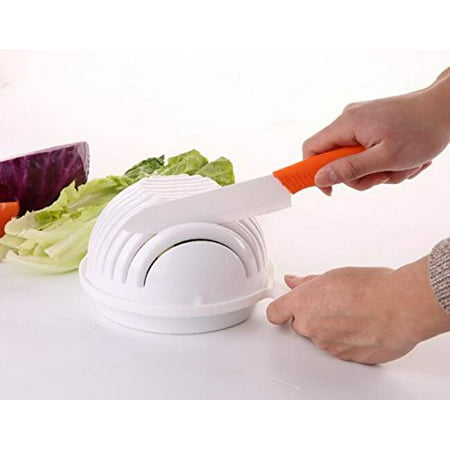 Salad Cutter Bowl, Vegetable Chopper, Chop Fresh Vegetables and Fruits in