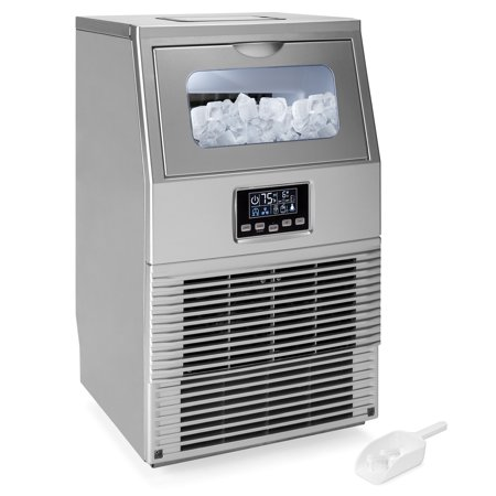 Best Choice Products 66lb/24hr Commercial Automatic Portable Freestanding Ice Maker Machine for Restaurants, Businesses with LCD Digital Indicator, Auto-Control and Clean, Ice Scoop, (Best Commercial Ice Maker Brand)