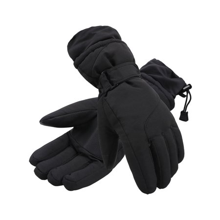 - ThunderCloud Women's Winter Sportswear Cuffed Snowboard/Snow Gloves,BlackSolid,M