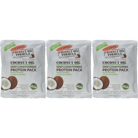 3 Pack Palmer's Coconut Oil Formula Deep Conditioning Protein Pack 2.1oz
