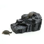 Aquarium Landscape Rock Shaped Basking Ramp Tortoise Climb Stone Habitat Decor