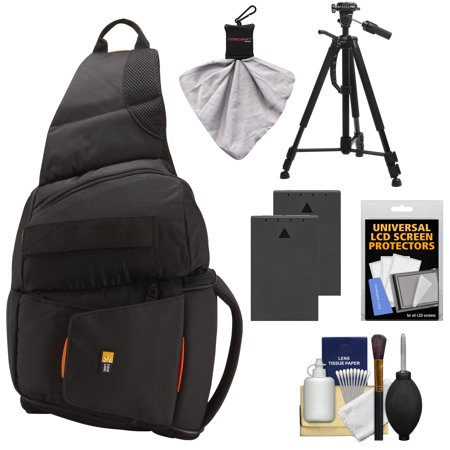 Review Case Logic Digital SLR Sling Camera Bag/Case (Black) (SLRC-205) + (2) BLS-1 Batteries + Tripod + Accessory Kit for Olympus Evolt E-620, E-520, E-510, E-450, E-420 & E-410 Before Too Late
