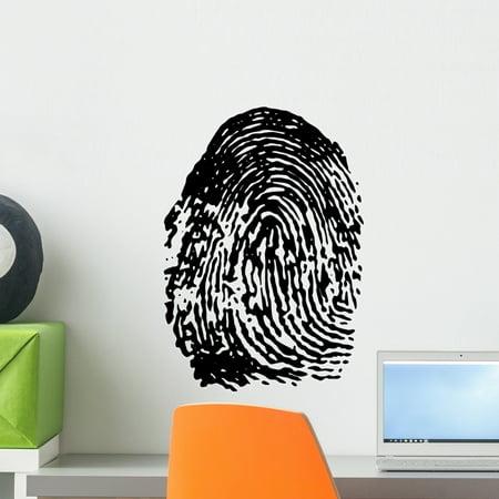 Fingerprint Fingerprint Wall Decal by Wallmonkeys Peel and Stick Graphic (18 in H x 18 in W) WM342629