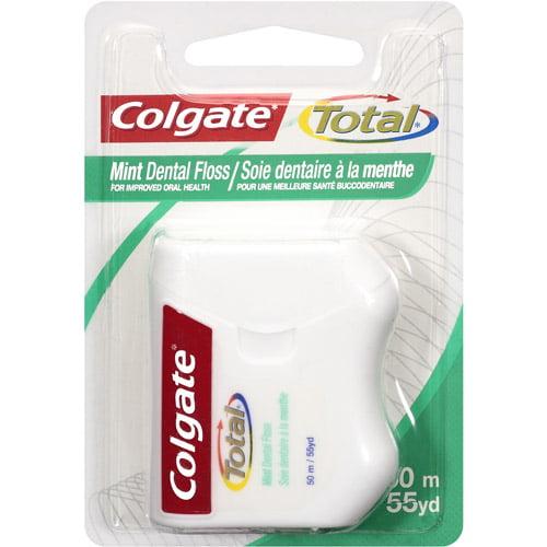 Colgate Total Mint Dental Floss, 55 yd