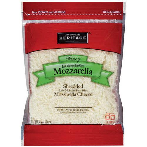 American Heritage Fancy Shredded Mozzarella Cheese, 8 oz
