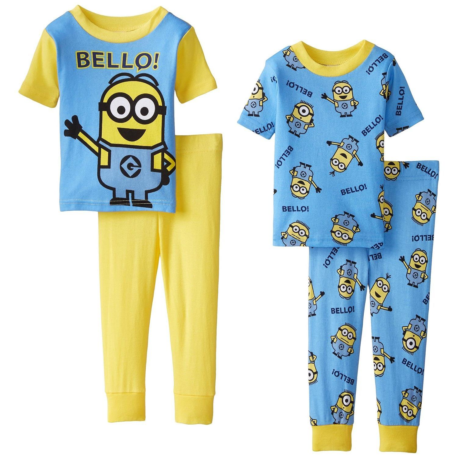 Despicable Me Little Boys' Bello Minions 4 Piece Pajama Set