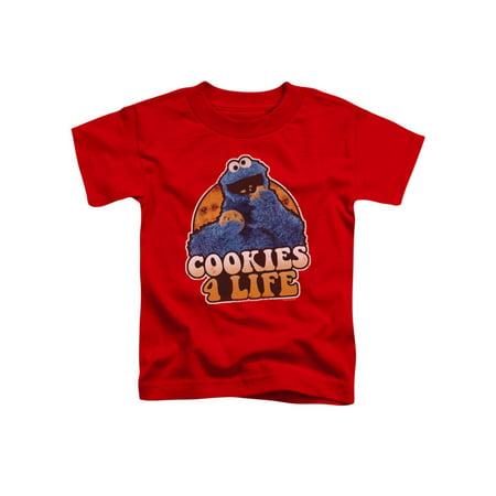 Sesame Street TV Show Cooky Monster Cookies 4 Life Boys Toddler T-Shirt Tee