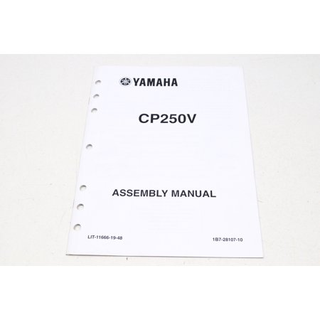 Yamaha LIT-11666-19-48 Assembly Manual CP250V QTY 1