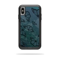 Skin for OtterBox Pursuit iPhone XS Max Case - Dark Butterfly | Protective, Durable, and Unique Vinyl Decal wrap cover | Easy To Apply, Remove, and Change Styles