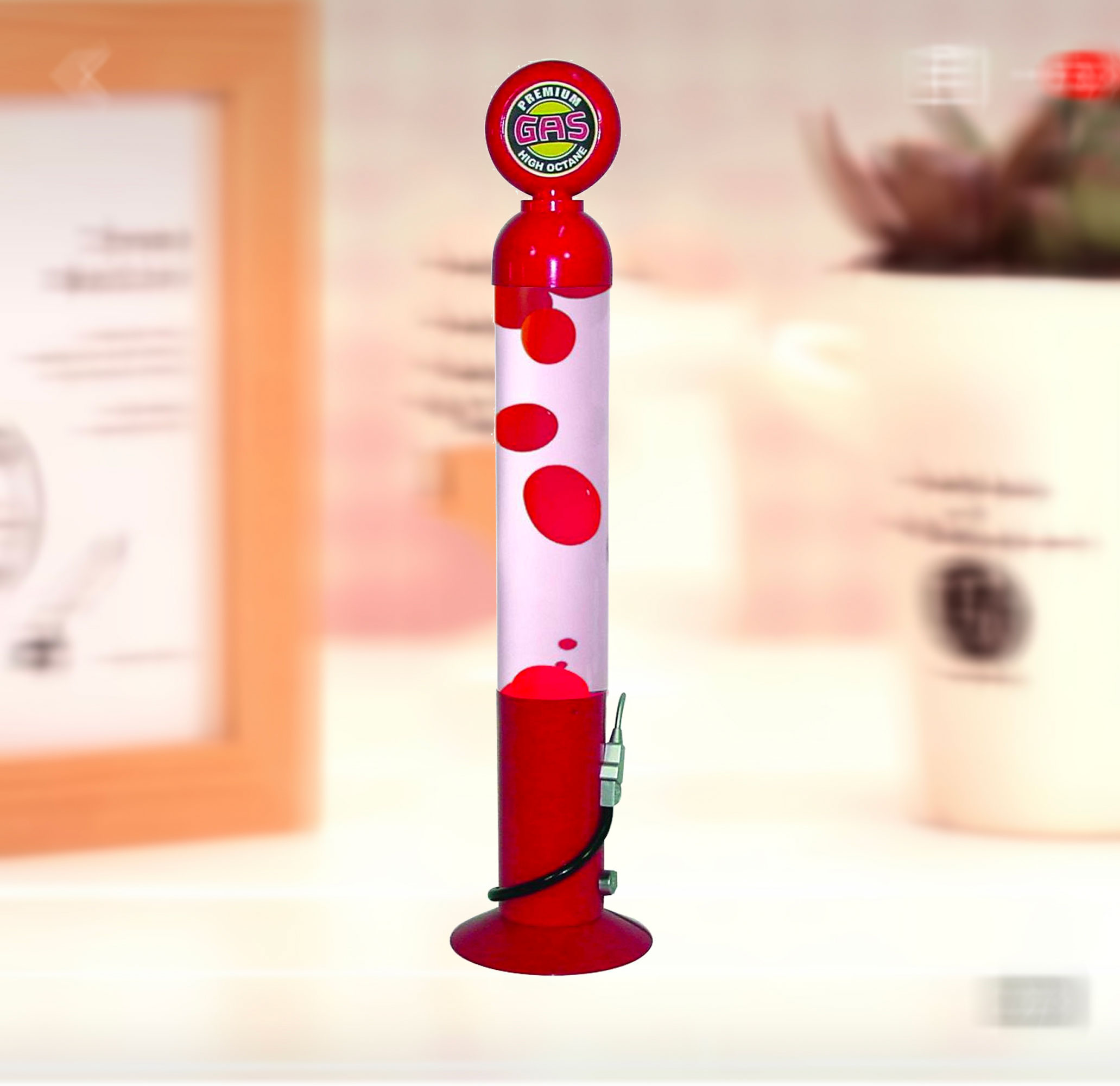 Creative Motion Gas Pump Motion Light, Retro look, Gas Pump look, Nestalgia , mesmerizing mixture of oil and wax, Product Size: 4x17x4