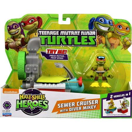 Teenage Mutant Ninja Turtles Half Shell Heroes Sewer Cruiser with Michelangelo Turtles Half Shell