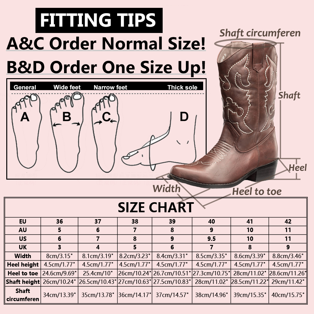 Cowboy Boot Sizing