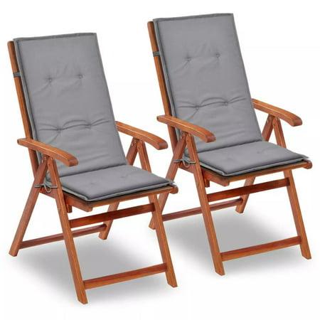 WALFRONT Garden Chair Cushions 2 pcs Gray 47.2