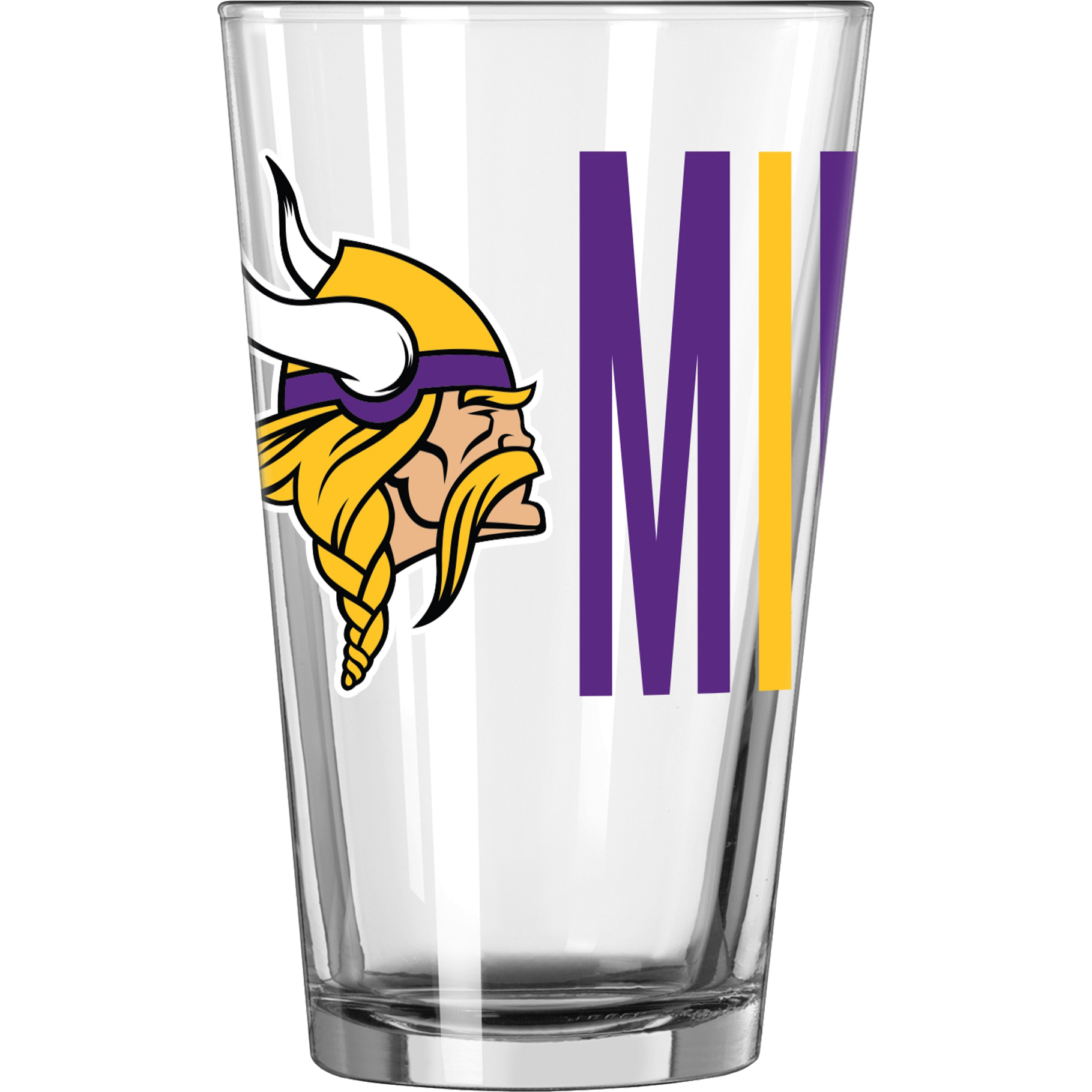 NFL Minnesota Vikings 16 oz. Overtime Pint Glass