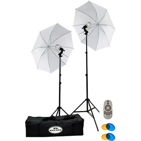 Savage 500W LED Studio Light Kit