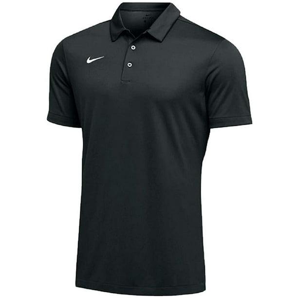 Nike Mens Dri-FIT Short Sleeve Polo Shirt (Black, Small)