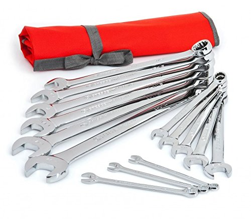 Crescent CCWS4 14-Piece SAE Combination Wrench Set with Roll Pouch by Apex Tool Group