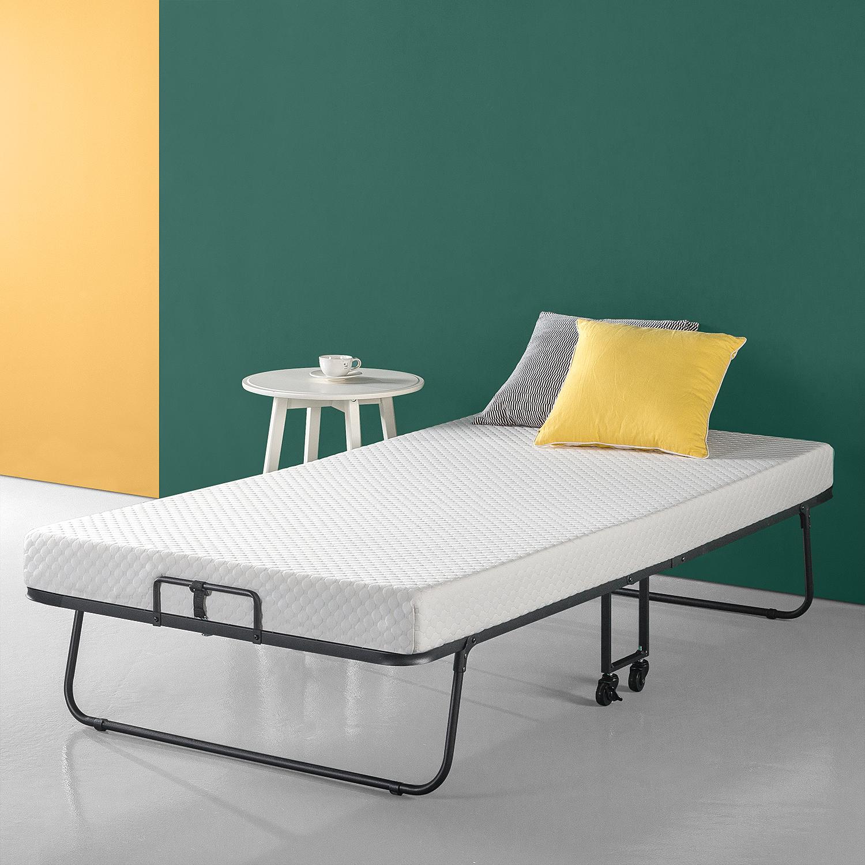 "Zinus Roll Away Smart Guest Bed with 4"" Comfort Foam Mattress, Twin"