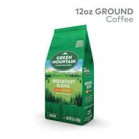 Green Mountain Coffee Breakfast Blend Decaf, Ground Coffee, Light Roast, Bagged 12oz