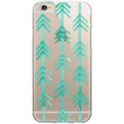 OTM Artist Prints Clear Phone Case for Apple iPhone 6, Hunter Turquoise