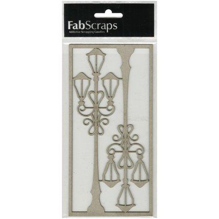 FabScraps Vintage Elegance Die-Cut Gray Chipboard Shape-Vintage Lamppost, 7