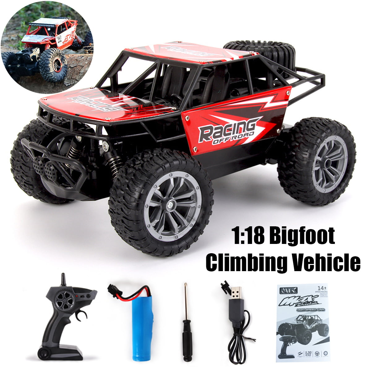 RC Cars 1:16 Scale 2WD Off Road Cars 2.4GHz Radio Truck High Speed Challenger US